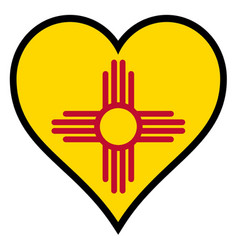 love new mexico vector image