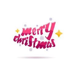 Merry christmas beautiful letters design vector