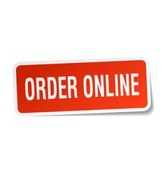 Order online square sticker on white vector