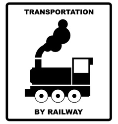 Passenger and cargo transportation by railways vector image vector image