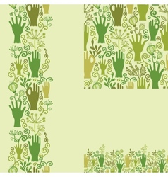 Protect our nature seamless pattern background vector image
