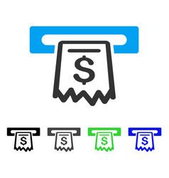 Receipt terminal flat icon vector
