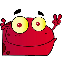 Red Frog vector image vector image