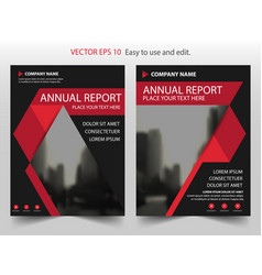 red triangle brochure annual report leaflet vector image vector image
