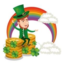 saint patrick day leprechaun character vector image
