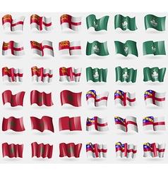 Sark macau morocco herm set of 36 flags of the vector
