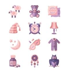 Sleep Related Icons vector image