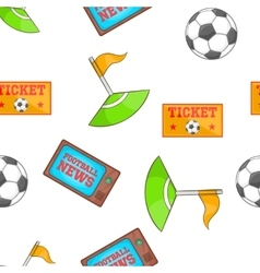 Soccer pattern cartoon style vector image