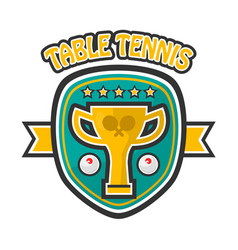 Table tennis five-star private club emblem vector