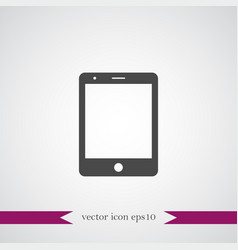 tablet icon simple vector image vector image