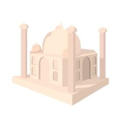 Taj mahal india icon cartoon style vector