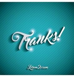 thank you card design vector image