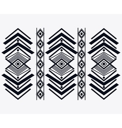 Tribal design black and white abstract figure vector image