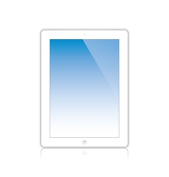 white computer tablet vector image vector image