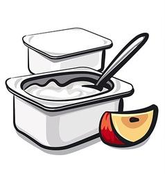 yogurt vector image vector image