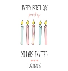 Romantic invitation announcement or congratulation vector