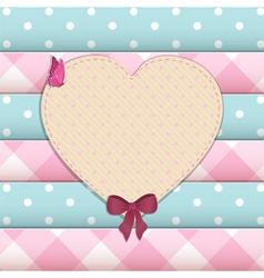 heart scrap book background vector image