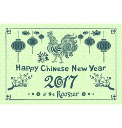 Green banner for happy chinese new year of the vector