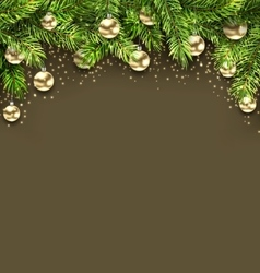 Christmas holiday background with fir twigs and vector