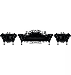 Baroque imperial upholstery furniture set vector