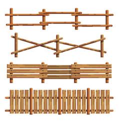 different wooden fances vector image