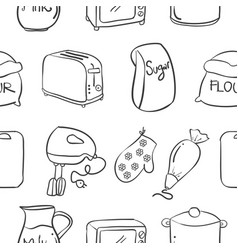 Collection stock of kitchen set art vector