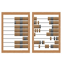 Wooden counting frame vector