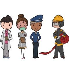 public services vector image