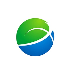 Globe earth ecology logo vector
