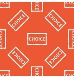 Orange choice stamp pattern vector