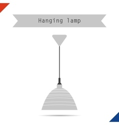 Ceiling lamp with shade vector