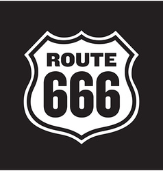 Route 666 road sign vector