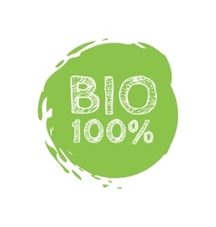 Grunge bio 100 percent natural rubber stamp vector