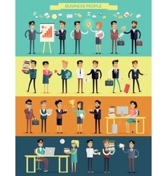Business people characters set vector