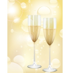 Champagne bubbles background vector