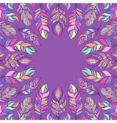 abstract colorful feathers vector image