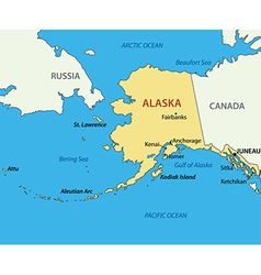 Alaska - map vector image