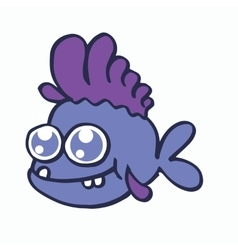 Baby fish for t-shirt design collection vector