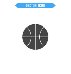 basketball icon ball icon vector image