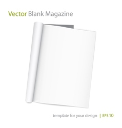 blank page of magazine on white background vector image