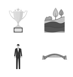 Business sport ecology and other monochrome vector
