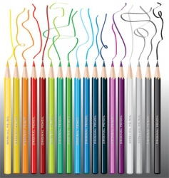 Color pencils crayon vector