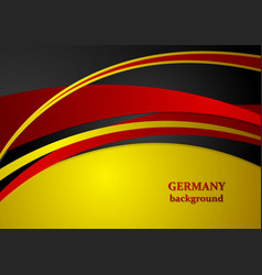 Corporate wavy abstract background German colors vector image