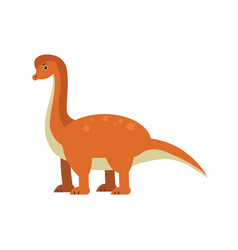 cute cartoon brachiosaurus dinosaur prehistoric vector image