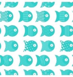 Fish seamless pattern for fabric textile design vector image