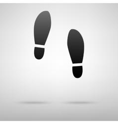 Foots black icon vector image vector image