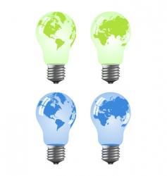 globe lamps vector image