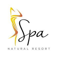isolated spa logo vector image vector image
