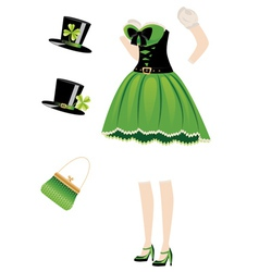 Leprechaun girl dress vector image vector image