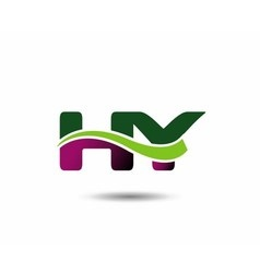 Letter h and y monogram logo vector